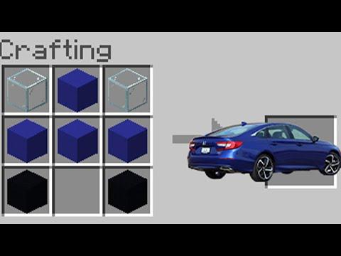 CRAFTING CARS in Minecraft PE