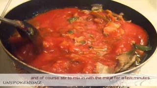 Pork with Tomato sauce dish