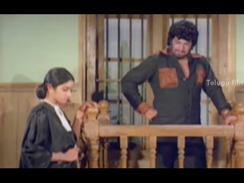 Sridevi Interrogating NTR - Bobbili Puli Movie Scenes - Murali Mohan