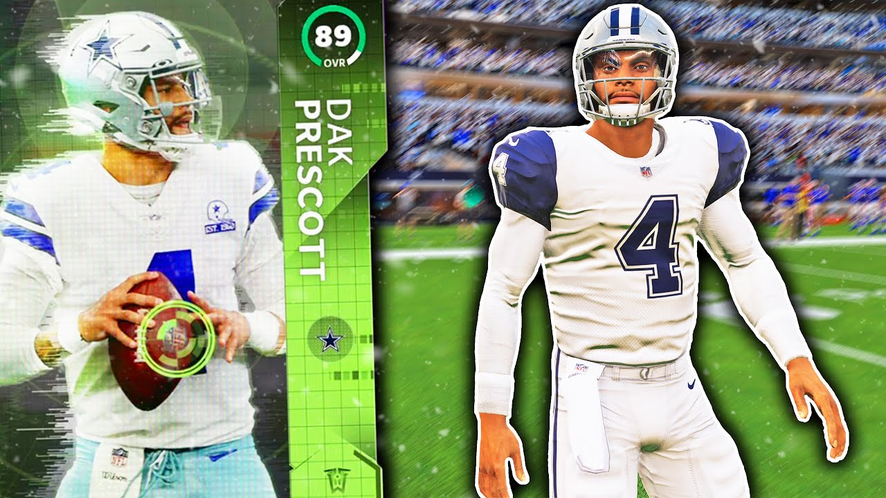 Dak Prescott Player Of The Week 3 Rush Tds Madden 21 Ultimate Team Team Of The Week Week 2 Youtube