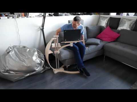 Lounge wood classic laptop desk also for ipad e for Table pour ordinateur portable