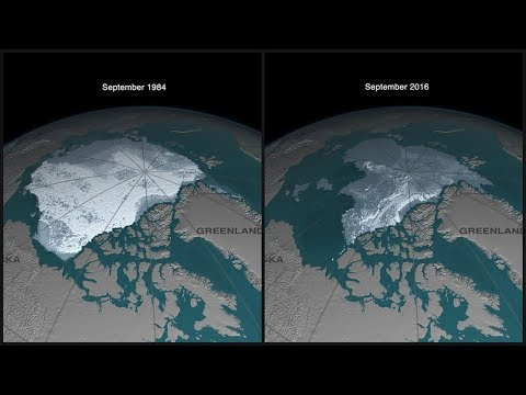 Arctic Sea Ice 1984 - 2016 (4K)
