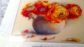 """Обзор набора РТО """"Букет ранункулюсов"""" М204 - Видео от Masha Needlework"""