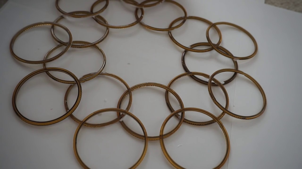 Wall hanging from bangles and mirror best from waste for Best out of waste ideas from bangles