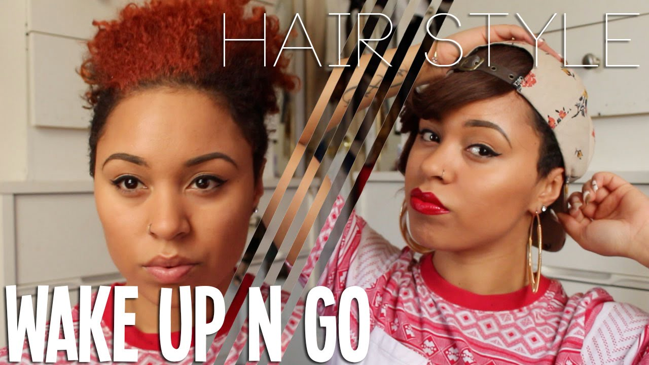 quick and easy, wake up and go hair style | msariella89 - youtube
