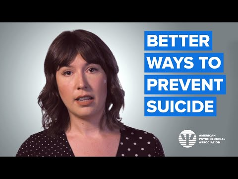 Better Ways to Prevent Suicide