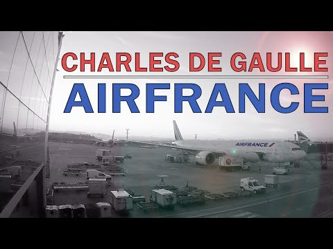 AEROPORTO Charles de Gaulle  e voando com a AIRFRANCE