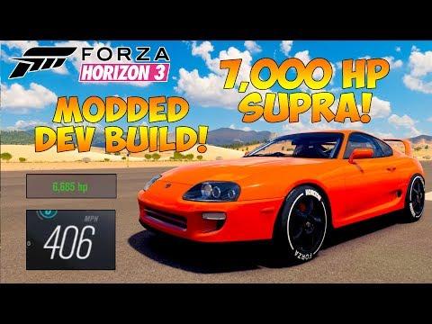 Forza Horizon 3 - DEV BUILD 7,000 HP SUPRA! 7,000 HP & 410MPH+!