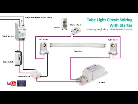 Tube Light Circuit Wiring with Starter | Rig Electrician Work | Urdu Hindi