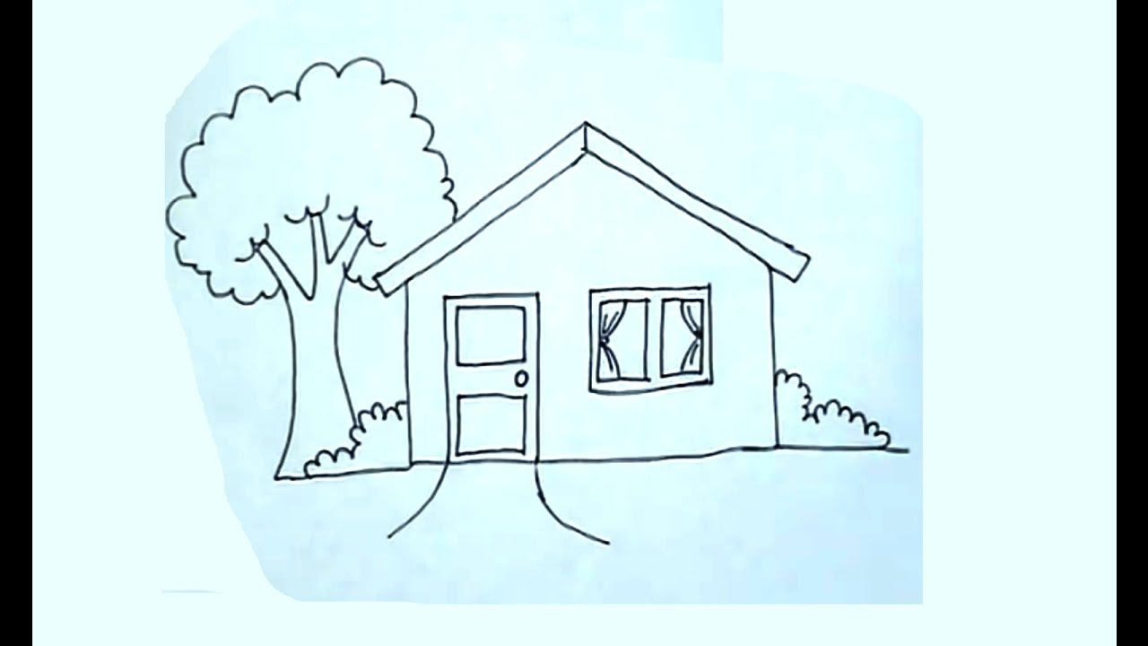 C mo dibujar una casa super f cil house drawing youtube - Casas dibujadas a lapiz ...