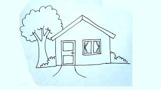 Cómo dibujar una casa super fácil - House drawing