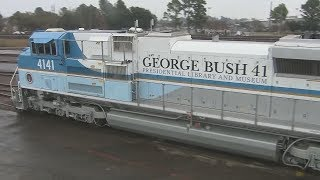 George H.W. Bush train leaves carrying body of 41st President