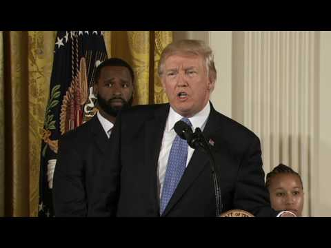 Thumbnail: Trump honors police officers who raced through the bullets to save congressmen