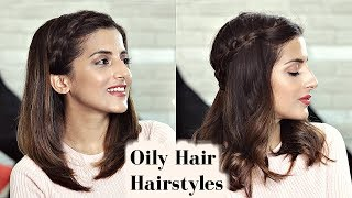 2 CUTE Everyday Braid Hairstyles For Greasy Oily Scalp & Hair / Medium Hairstyles - Knot Me Pretty