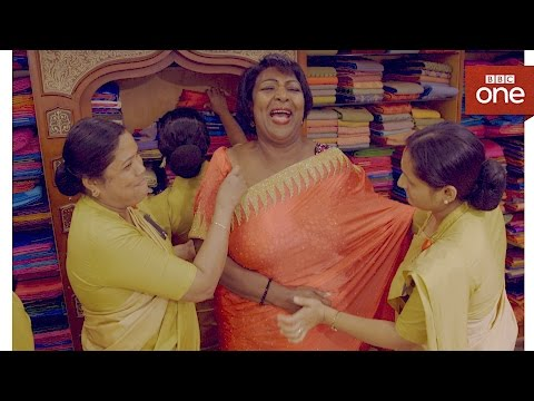 Sari shopping - The Real Marigold Hotel: Series 2 Episode 3 - BBC One