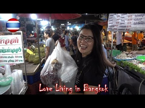 Thai Street Food Night Market BBQ Durian Dessert Bangkok