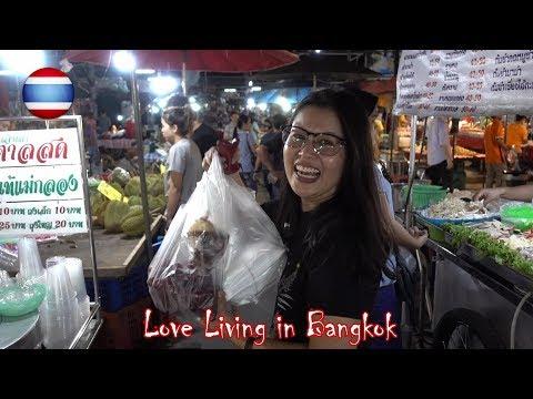 Thai Street Food Night Market BBQ Durian Dessert Bangkok