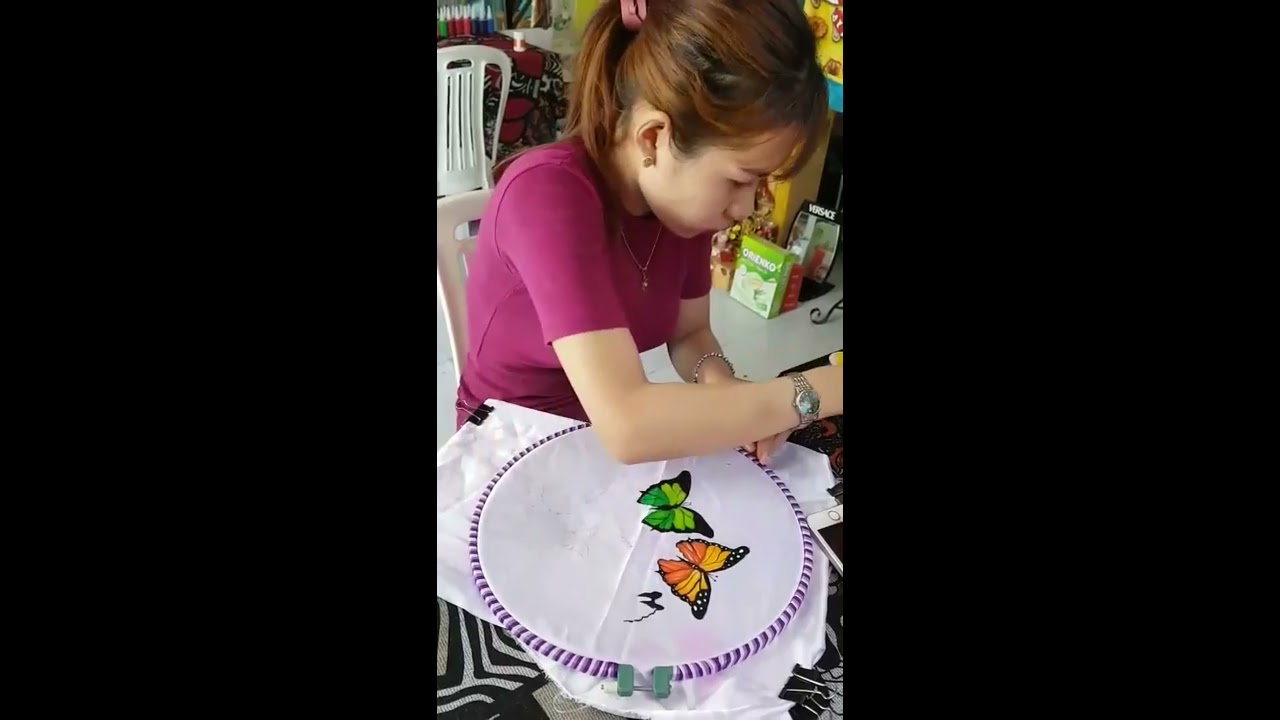 Dạy Vẽ Bướm trên Vải & Áo Dài – Facebook.com/dayveaodai