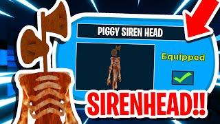 How To UNLOCK SIREN HEAD SKIN In ROBLOX PIGGY 2!! (SECRET SKIN)