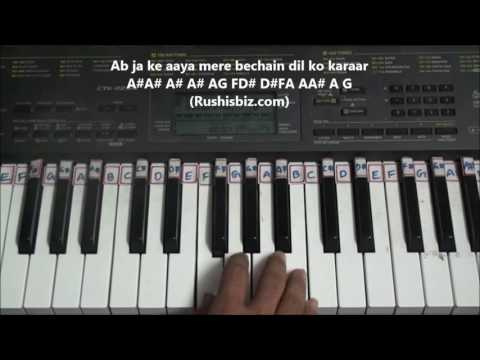 Dekha Hai Pehli Baar (Saajan) - Piano Tutorials | 7013658813 - PDF NOTES/BOOK - WHATS APP US