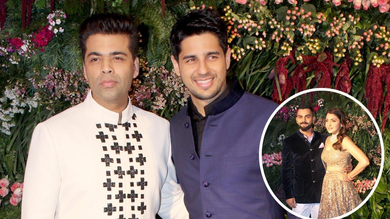 Karan Johar And Sidharth Malhotra At Virat Kohli Hka Sharma S Wedding Reception