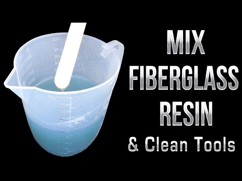 How to mix Fiberglass Resin & Clean Tools