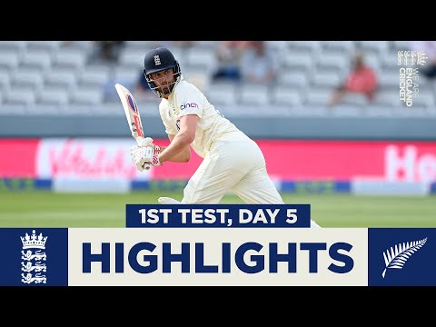 England v New Zealand Day 5 Highlights   First Test Ends In Deadlock   1st LV= Insurance Test