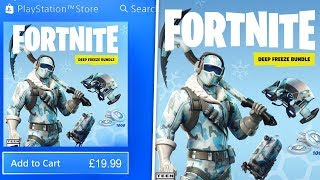 "Comment télécharger le nouveau ""DEEP FREEZE SKIN BUNDLE - 1000 VBUCKS"" à Fortnite! (Nouveau skin set ICE)"