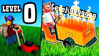 GETTING MAX LEVEL LAWN MOWER in Roblox!