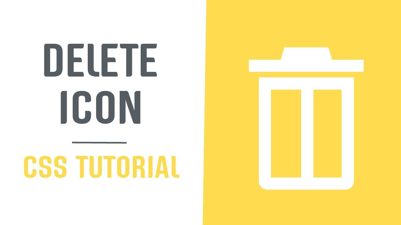 Single Element and Scalable Delete Icon   Pure CSS Icons   CSS Tutorial