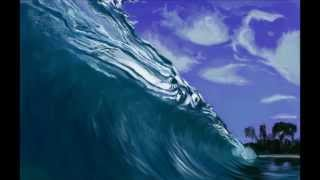 How to draw sea wave 2 speed painting