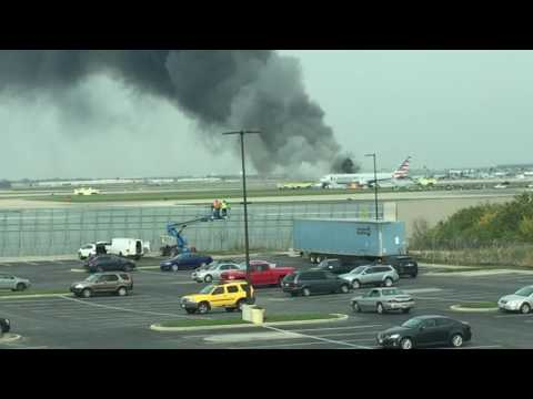 American Airlines Boeing 767 Flight 383 Engine Failure, Catches Fire During Takeoff At O'Hare INTL