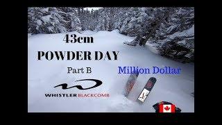 43cm POWDER DAY  Part B  Million Dollar Ridge at  whistler blackcomb powder snow