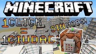 Minecraft - Genera una CIUDAD con 1 CLICK! (Comandos) - ESPAÑOL TUTORIAL