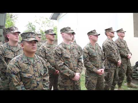 B-ROLL: SPMAGTF-SC Marines hold opening ceremony for Honduras school projects