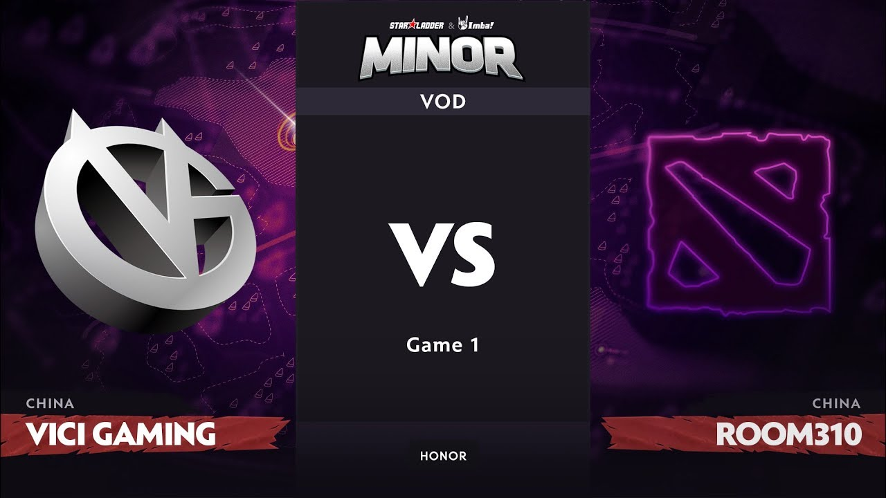 [RU] Vici Gaming vs Room310, Game 1, CN Qualifier, StarLadder ImbaTV Dota 2 Minor