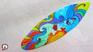 Fondant Surfboard Cake Topper
