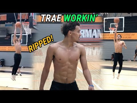 Trae Young SECRET PICKUP GAME! Atlanta Hawks Guard Shows Off EPIC Handle & Dunks Back In Oklahoma!