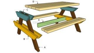 Как сделать садовый стол своими руками