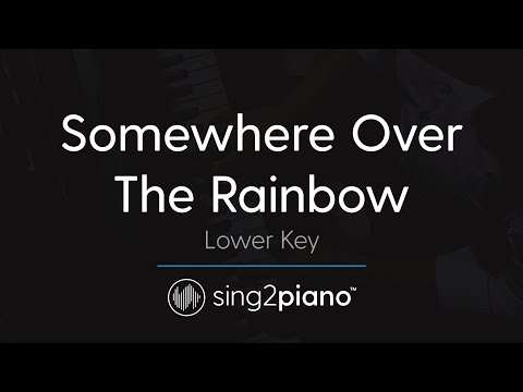 Somewhere Over The Rainbow (LOWER Piano Karaoke) Ariana Grande