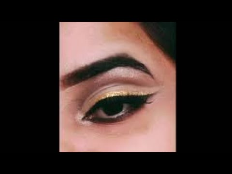 different eye look simple double cut crease eye make up
