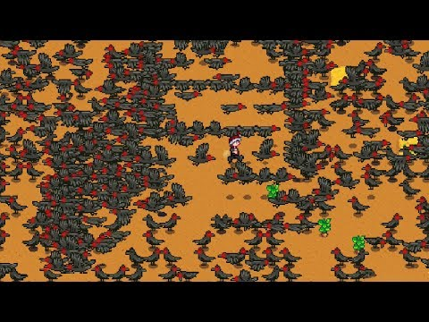 That Time I Spawned 100,000 Crows Onto My Farm - Stardew Valley