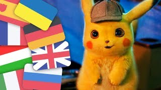 POKEMON Detective Pikachu Trailer (2019) In Various Languages