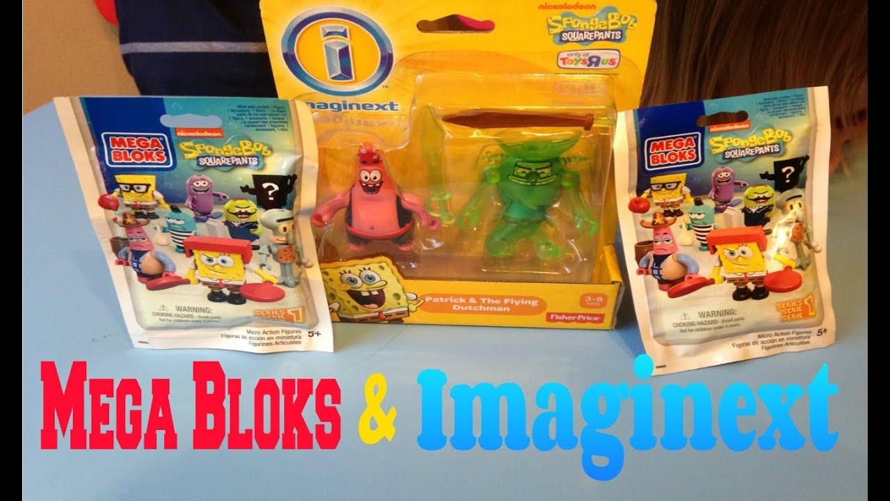 Imaginext Spongebob Figures and Mega Bloks Blind Bags Review