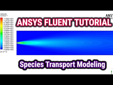 ANSYS Fluent Tutorial, Species Transport Modeling/Methane Combustion, (PART 1/2)