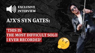 Avenged Sevenfold Syn Gates: This Is The Most Difficult Solo I Ever Recorded