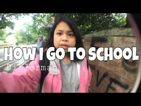 How I go to school in Germany | naik kapal!? - #3 Vlog