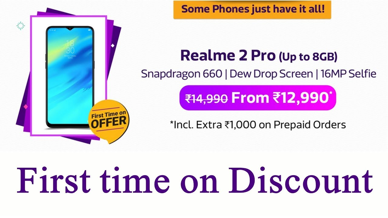 7f23550741cbe9 Realme 2 pro on discount price for first time at flipkart mobile bonanza