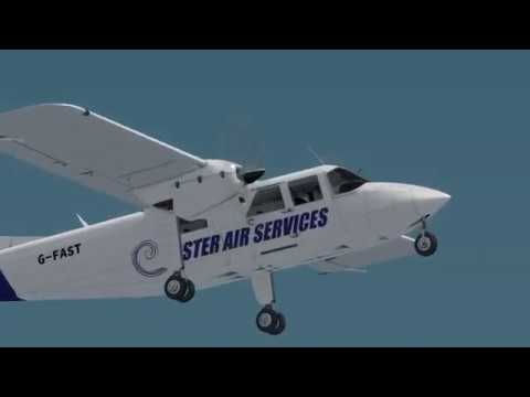 BN-2 Islander Start, Taxi and Take-Off Clips at Stansted EGSS - Prepar3D