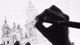 Live Drawing - Church in Cartagena de Indias, Colombia